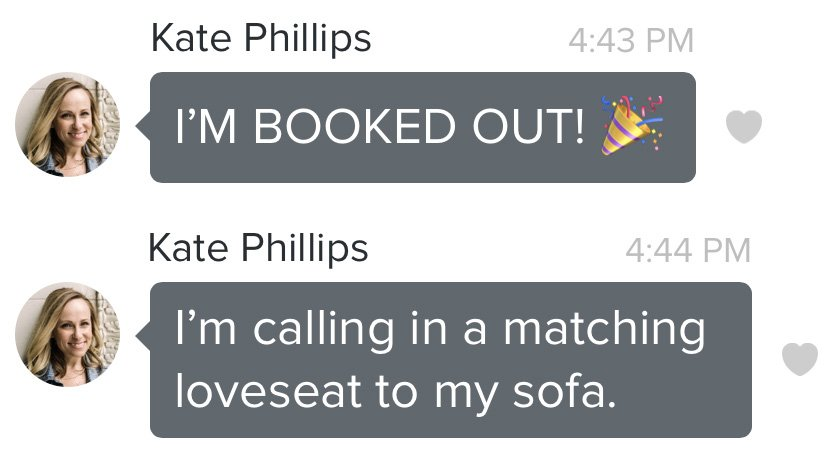 booked out - kate