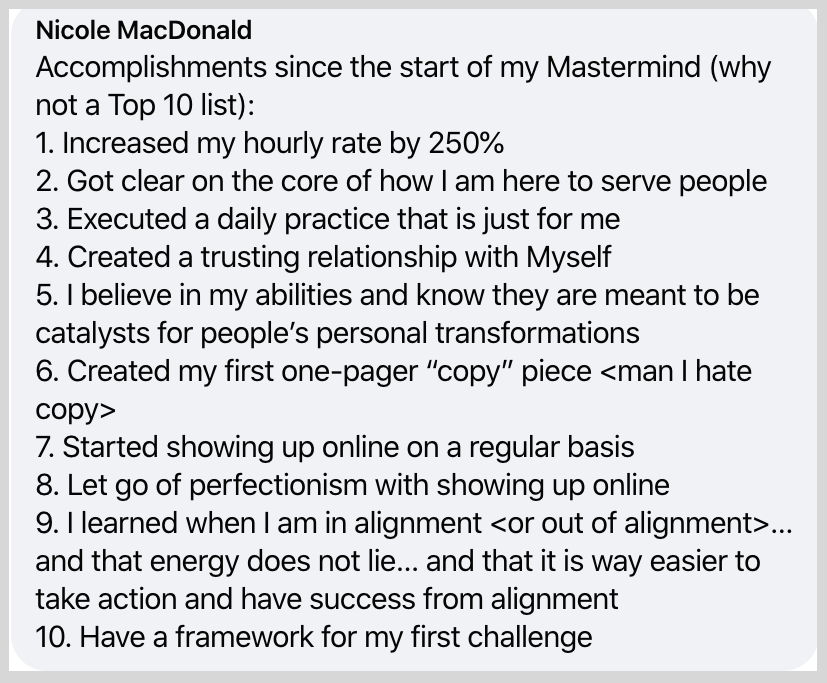 Let go of perfectionism and started showing up online